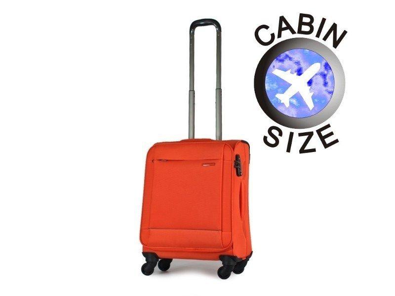 75566ee1a92bb ... Mała walizka PUCCINI EM-50250. Kolekcja: Roma Materiał: poliester.  Kolor: orange